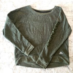Adidas Olive Green Sweatshirt Size L